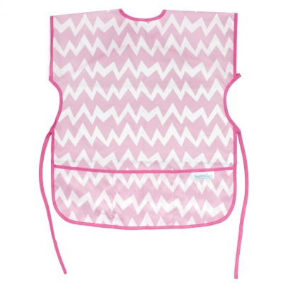 Bumkins Short Sleeved Art Smock - Pink Chevron
