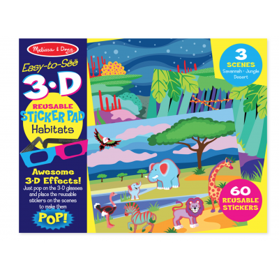 Melissa & Doug 3-D Reusable Sticker Pad - Habitats