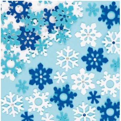 Baker Ross Snowflake Felt Stickers (Pack of 78)
