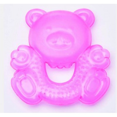 Clippasafe Water Filled Teether - Teddy Shape (Pink)