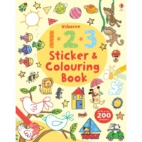 Usborne 123 Sticker and Colouring Book