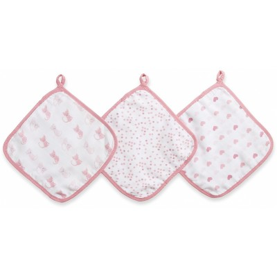 Aden - Ideal Baby Washcloths 3 Pack - Kitty Love (Bunny)