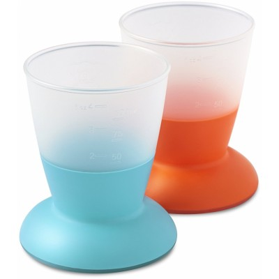 BabyBjorn Baby Cup 2-Pack - Turquoise/Orange