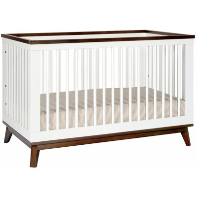 Babyletto Scoot 3-in-1 Convertible Crib - White / Walnut