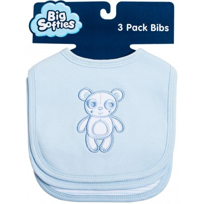 Big Softies 3-Pack Cotton Bibs - Panda