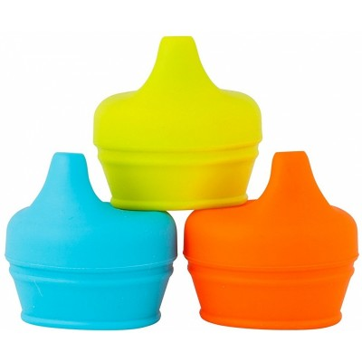 Boon Snug Spout Sippy Lids - Orange Multi