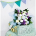Dotty Bee Baby Clothes Bouquet - Blue