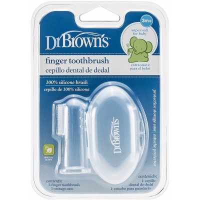 Dr Brown's Silicone Finger Toothbrush with Case