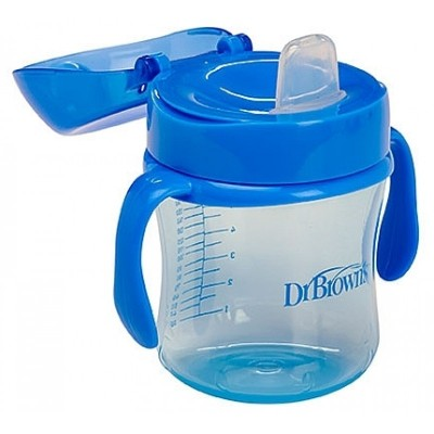 Dr Brown's Soft-Spout 6oz Cup with Handle 6m+ (Blue)