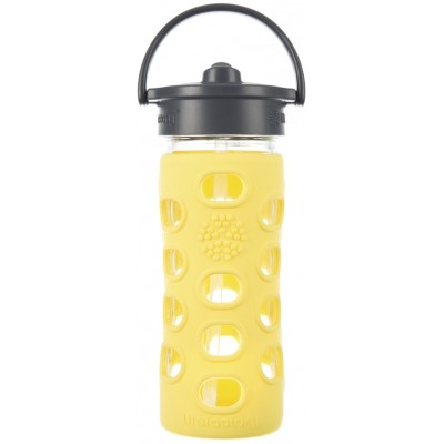 Lifefactory Classic Straw Cap 12 oz - Lemon