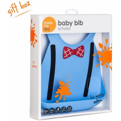 Make My Day Baby Bib - Scholar Blue
