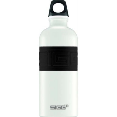 SIGG Screw Top -Cyd Pure White Touch Black (0.6L)