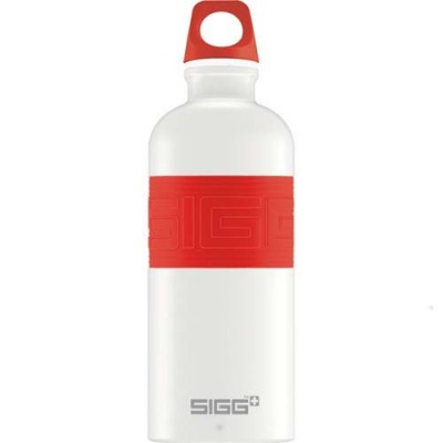 SIGG Screw Top -Cyd Pure White Touch Red (0.6L)
