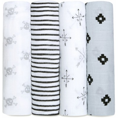 aden + anais Classic Swaddles 4-Pack - Lovestruck