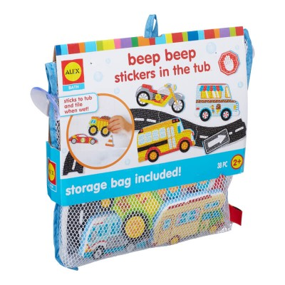 ALEX Toys Bath Beep Beep Stickers in the Tub - 38pc