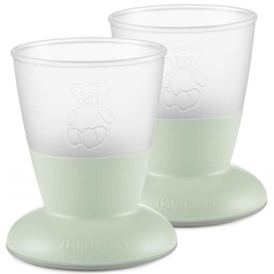 BabyBjorn Baby Cup 2-Pack - Powder Green