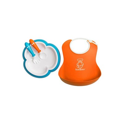 BabyBjorn Baby Feeding Gift Set - Orange/Turquoise