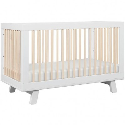 Babyletto Hudson 3-in-1 Convertible Crib - White / Washed Natural