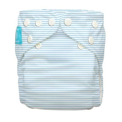 Charlie Banana 1 Diaper 2 Deluxe Inserts - Pencil Stripes Blue (One Size Hybrid AIO)
