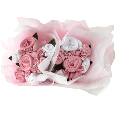 Dotty Bee Twin Girl Bouquet - Pink