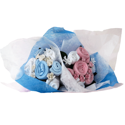 Dotty Bee Twin Mixed Bouquet - Blue & Pink