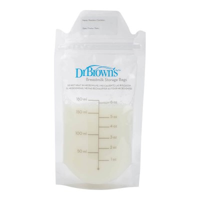 Dr Brown's Breastmilk Storage Bags 6oz (50-Pack)