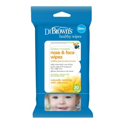 Dr Brown's Cleaning Wipes 30s - Nose & Face