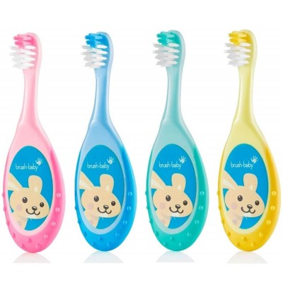 Brushbaby Flossbrush 0-3 years - Assorted Colours (1-Piece)