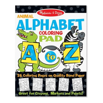 Melissa & Doug Animal Alphabet Coloring Pad A to Z