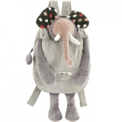 Moulin Roty Les Zazous Grey Elephant Backpack 38cm