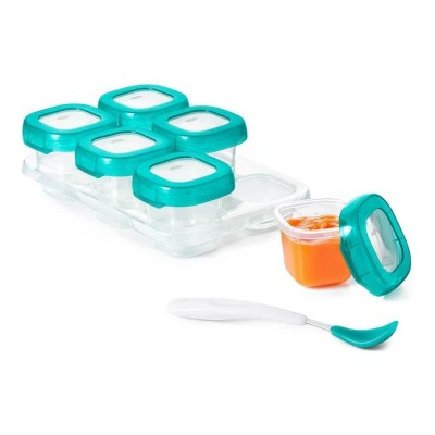OXO Tot Baby Blocks Freezer Storage Containers - Teal 2oz