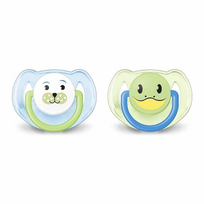 Philips Avent Animal Soother 6-18mos - Green / Blue