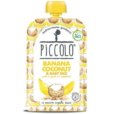 Piccolo Banana, Coconut & Baby Rice with a Pinch of Cinnamon 100g (6mos+)