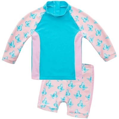 Platypus Butterfly Flutter UPF50+ Baby Sunset LS - Size 0 to 2