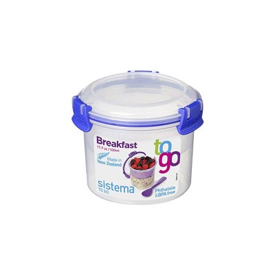 Sistema Breakfast To Go™ 530ml (color may vary: Blue/Green/Pink/Purple)