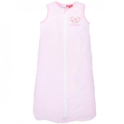 Snugtime 0.2 TOG Sleeveless Cosi Bag Unlined, Cotton, PINK STRIPE
