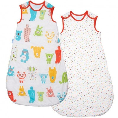 The Gro Company - Grobag Spotty Bear Wash & Wear - 1.0 Tog - 18-36m Twin Pack