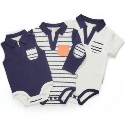 TinyBitz Summer Growing Kit for 3-Month Old Baby Boys (Line Dance)