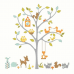 RoomMates Woodland Fox & Friends Tree Giant Wall Decals