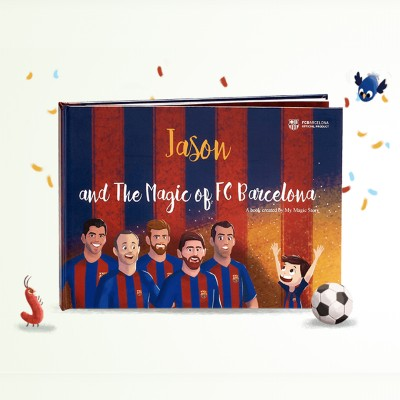 My Magic Story - The Magic of FC Barcelona - Personalised Book (Hard Cover)